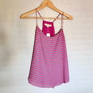 MAGENTA STRIPED LOFT BLOUSE